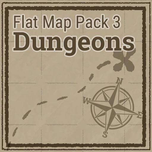 Flat Map Pack 3 - Dungeons