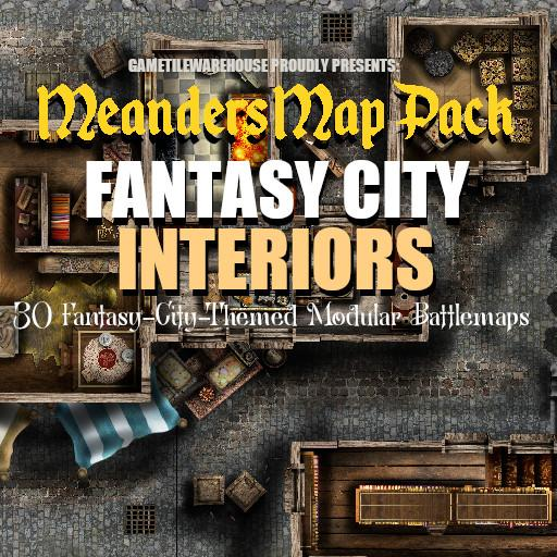 Meanders Map Pack FANTASY CITY (INTERIORS)