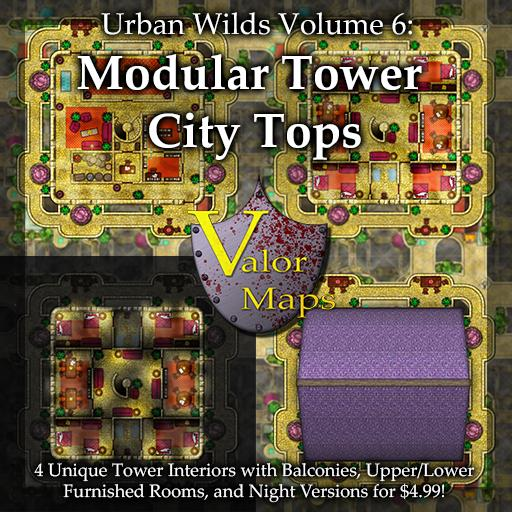 Urban Wilds V6: Modular Tower City Tops