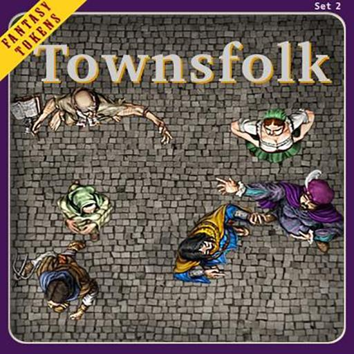 Fantasy Tokens Set 2, Townsfolk