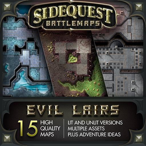 Sidequest Battlemaps: Evil Lairs