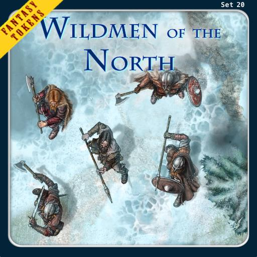 Fantasy Tokens Set 20, Wildmen of the North