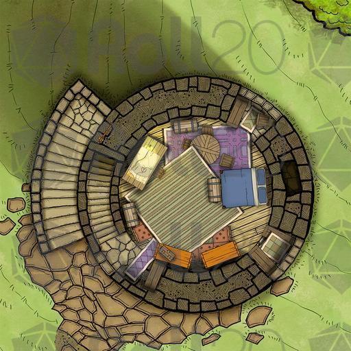 Tower Cavern Battlemap Roll20 Marketplace Digital Goods For Online Tabletop Gaming