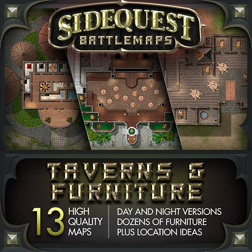 Sidequest Battlemaps: Taverns & Furniture