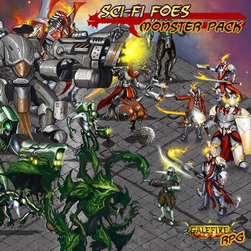 Sci-fi Foes, Isometric Monster Pack