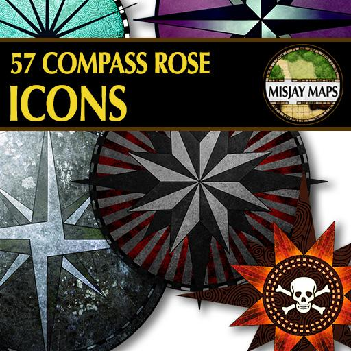 57 Compass Rose Icons