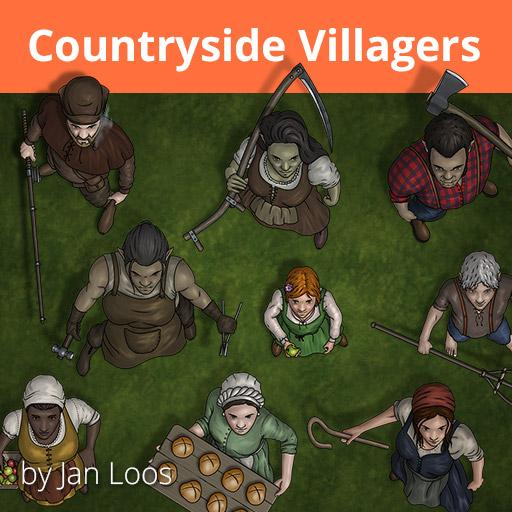 Jans Token Pack 11 - Countryside Villagers