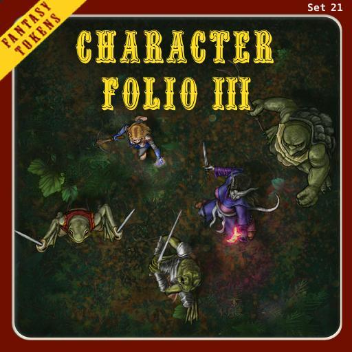 Fantasy Tokens Set 21, Character Folio 3