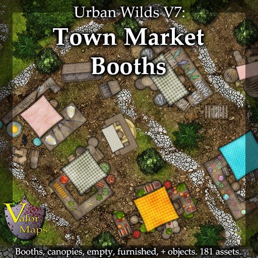 UWV7 Town Market Booths