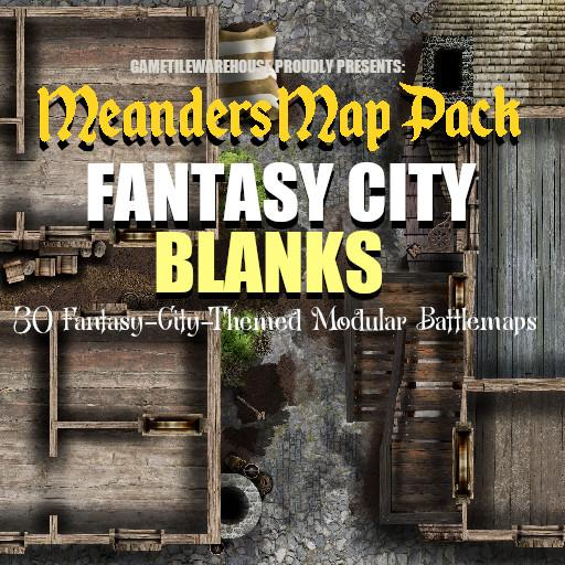 Meanders Map Pack FANTASY CITY BLANKS