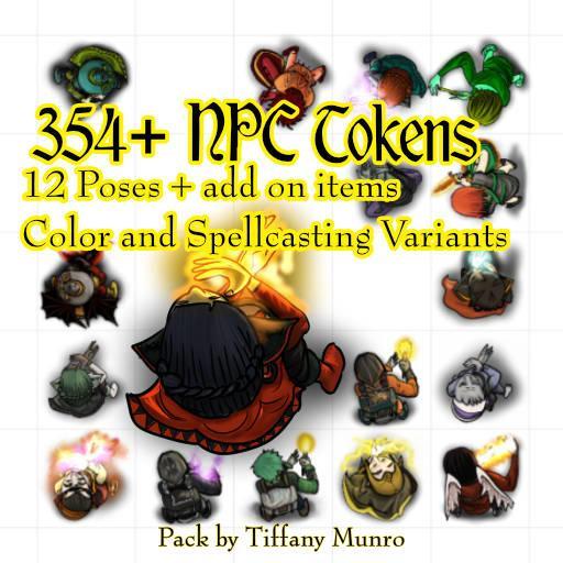 Spellcaster NPC Token Pack