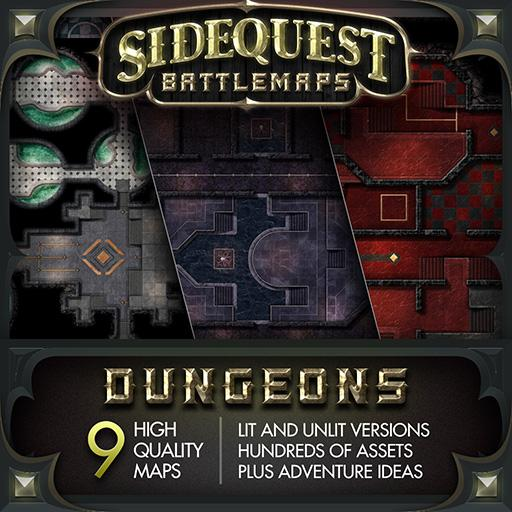 Sidequest Battlemaps: Dungeons