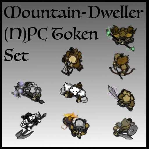 Mountain-Dweller (N)PC Token Set