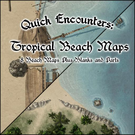 Quick Encounters: Tropical Beach Maps