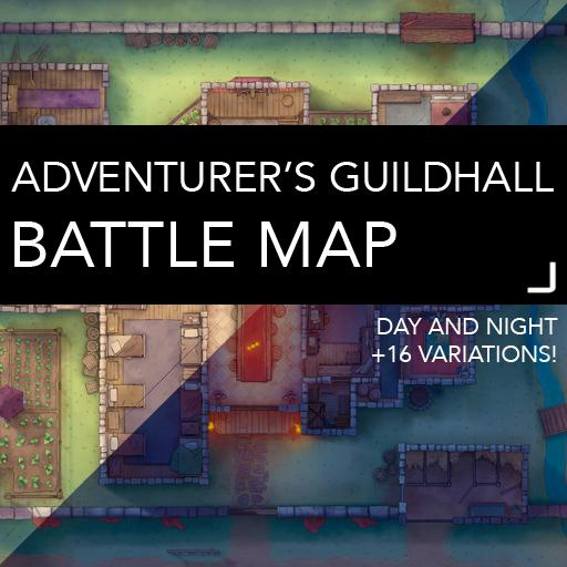 Adventurer's Guildhall Battlemap