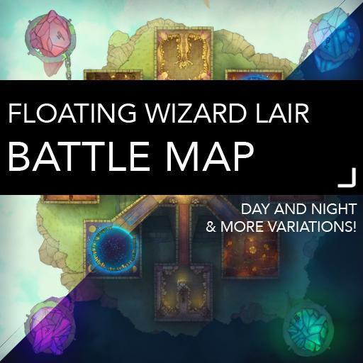 Ancient Wizard Lair Battlemaps
