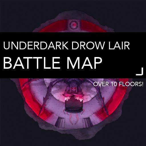 Underdark Drow Manor Battlemaps