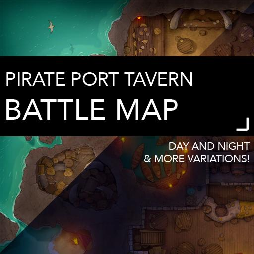 Pirate Port Tavern Battlemaps