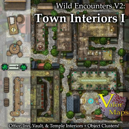 Wild Encounters V3: Town Interiors I