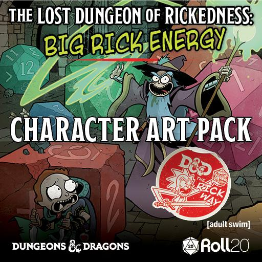 The Lost Dungeon of Rickedness: Big Rick Energy Character Art Pack