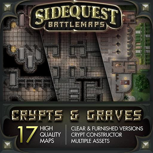 Sidequest Battlemaps: Crypts & Graves