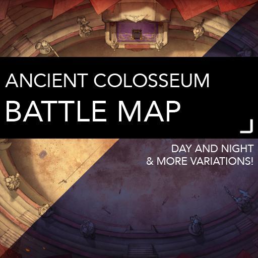 Ancient Colosseum DnD Battlemaps