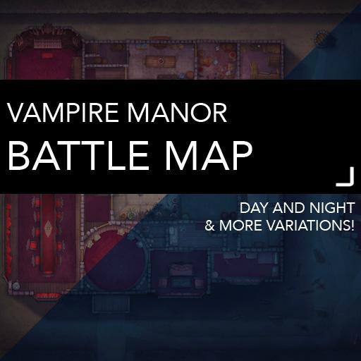 Vampire Mansion DnD Battlemaps