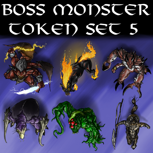 Boss Monster Token Set 5
