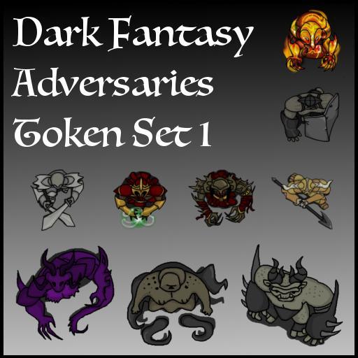 Dark Fantasy Adversaries Token Set 1