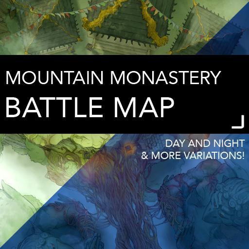 Mountain Monastery DnD Battlemaps