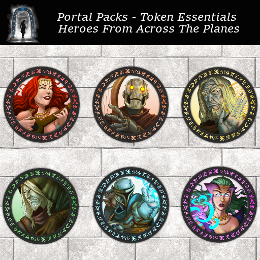 Portal Packs -Token Essentials - Heroes From Across The Planes