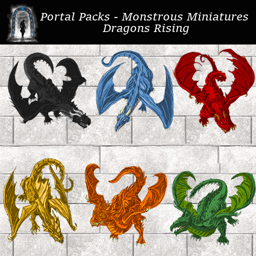 Portal Packs - Monstrous Miniatures - Dragons Rising