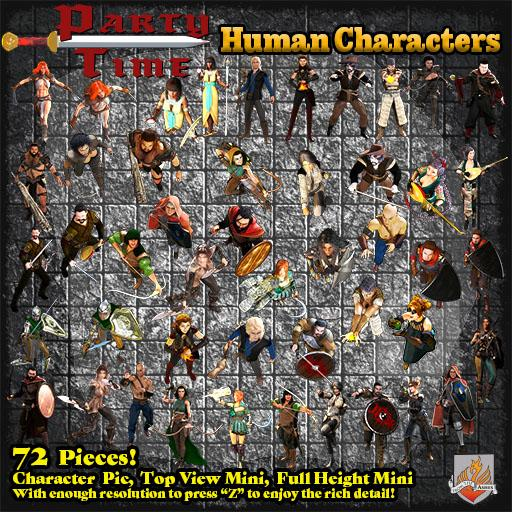 Party Time - Fantasy Human Characters - Top View