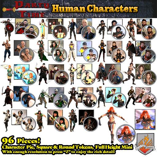 Party Time - Human Characters
