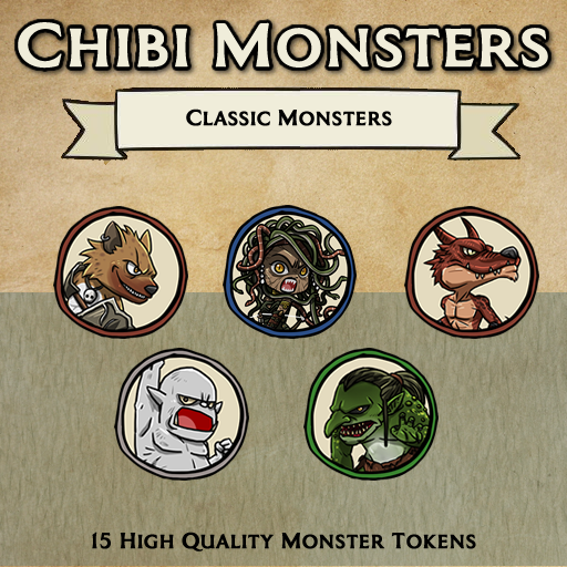 Chibi Monsters - Classic Monsters [Tokens]
