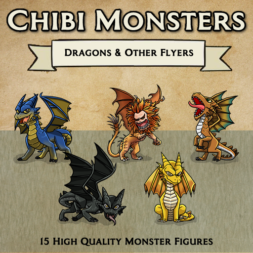 Chibi Monsters - Dragons and Other Flyers [Figures]
