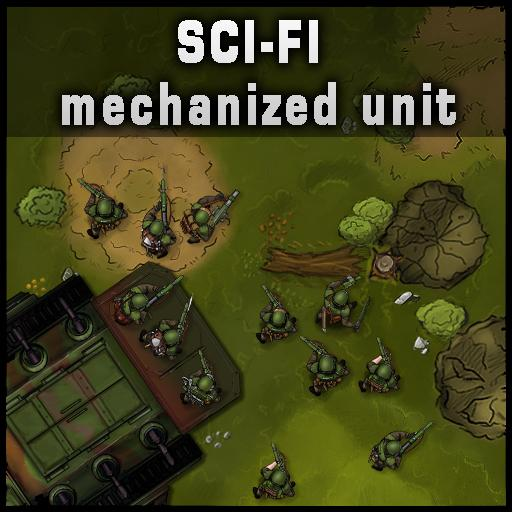 Sci-Fi Mechanized Unit