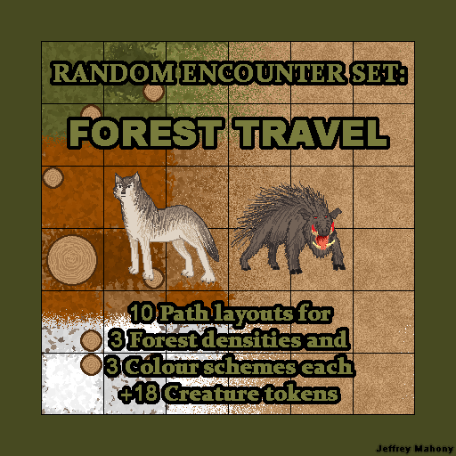 Random Encounter Set: Forest Travel