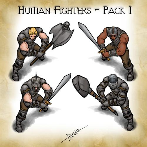 Humans Fighters Pack 1