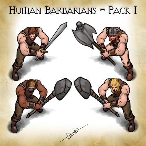 Human Barbarian Pack 1