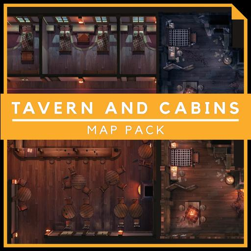 Tavern and Cabins - Encounter Map