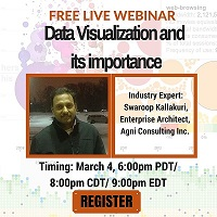 Free Live Webinar: Data Visualization and its importance.