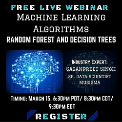 Free Live Webinar: Machine Learning Algorithms- Random Forest and Decision Trees