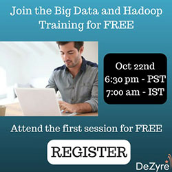 Attend the Big Data and Hadoop first session for FREE