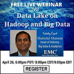 Free Live Webinar: Data Lake on Hadoop and Big Data