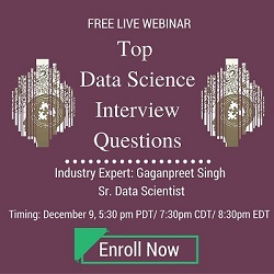 Free Live Webinar: Top Data Science Interview Questions