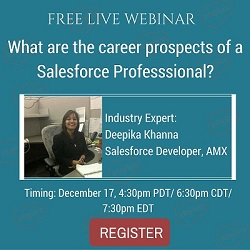 Free Live Webinar: What are the career prospects of a Salesforce Professional