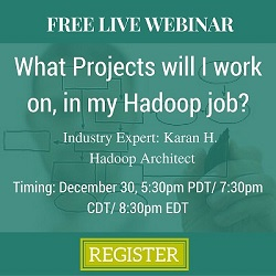 Free Live Webinar: What projects will I work on, in my Hadoop Job?