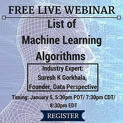 Free Live Webinar: List of Machine Learning Algorithms