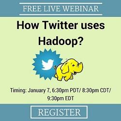 Free Live Webinar: How Twitter Uses Hadoop?